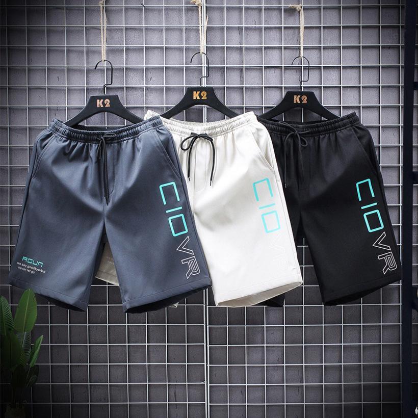 Мужские шорты Летние повседневные прямые спортивные комбинезоны Модные четверть брюки напечатаны Beach Pantsni1T