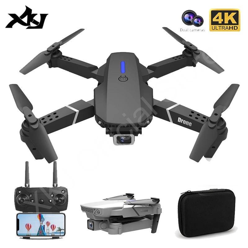 Folding RC Aircraft Air 4K 720p 1080p HD DUAL CÁMARA DUAL Cabeza de gran angular Drone de cuatro ejes Toys Remoto
