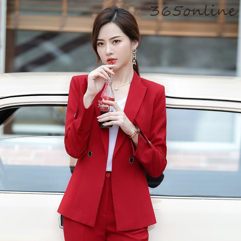 Novelty Red Fashion Long Sleeve Blazers Jackets Coat OL Styles Women Business Work Wear Autumn Winter Outwear Tops Clothes Women's Suits &