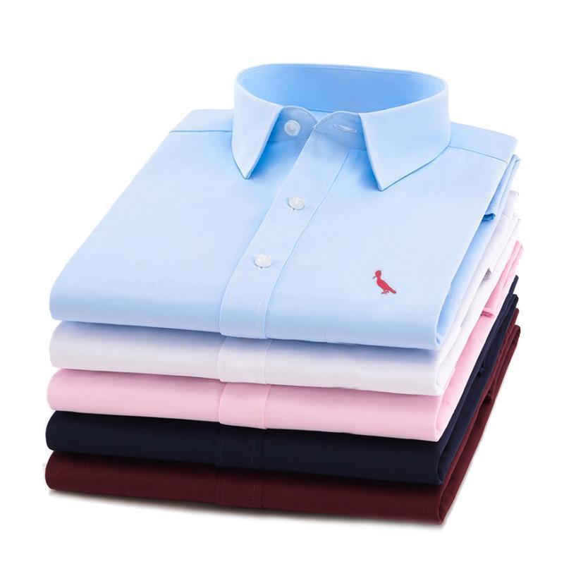 Reserved Aramy Business Shirts Man Long Sleeve Work Camisa Slim Fit Attire Cotton Bird Logo Men Dress Shirt Men's
