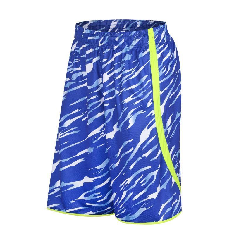 Calções de basquete extravagante, colorido esporte curto treinamento, correndo shorts de fitness, roupas de exercício, tecidos respiráveis, shorts elásticos