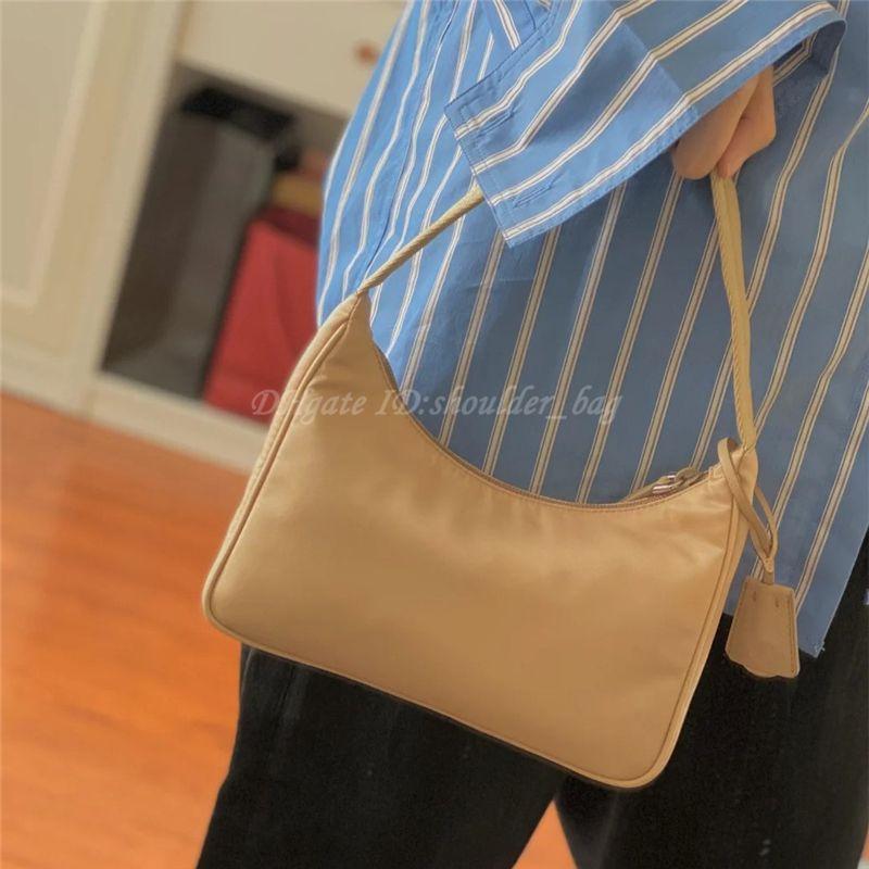Bolsas bolsas bolsas de ombro de nylon carteiras crossbody meia lua hobos tote underarm armpit mochila bolsa carteira bolsa mulheres saco de mulheres 2021 luxurys designers bolsas