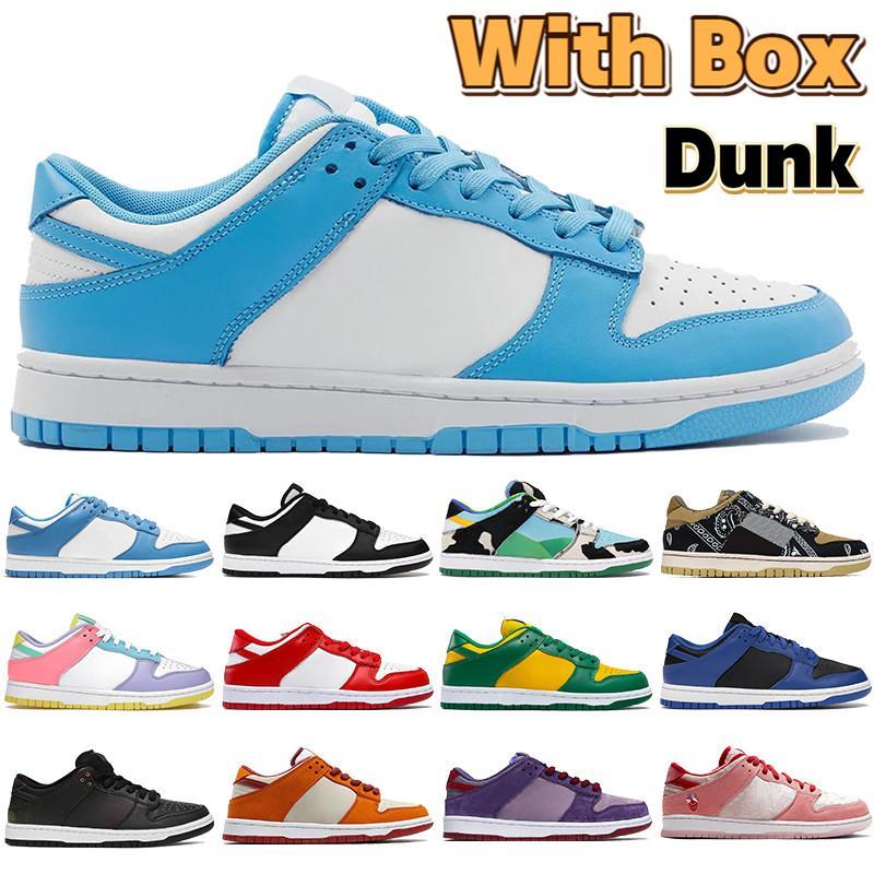 Com Caixa Costa Costa Dunk Homens Basquete Sapatos Chunky Dunky Branco Negro Universidade Vermelho Piga Pombo Kentucky FLOM LOW MENS Sneakers Trainers