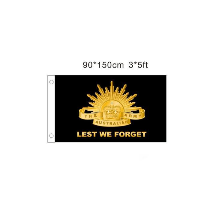 Damit wir australische Armee-Flaggen im Freien vergessen