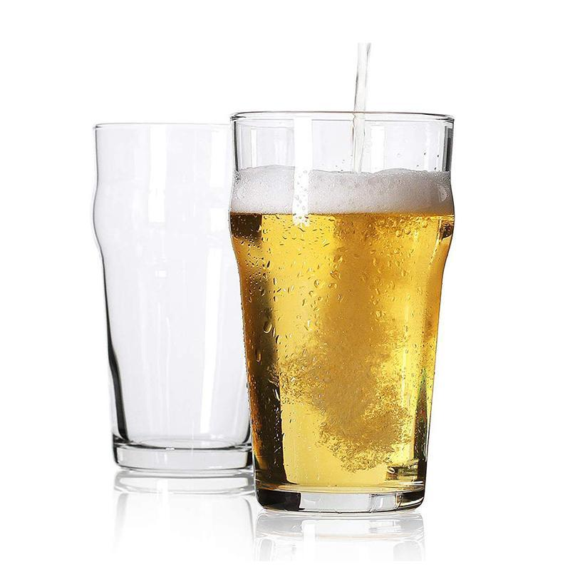 Verre à pique, lunettes de bière impériale de style britannique, verrerie de pub anglais, ensemble de design unique de 2/4 verres à vin