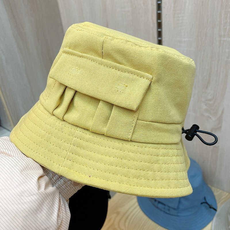 New Korean canvas pocket fisherman's hat for spring and summer 2021