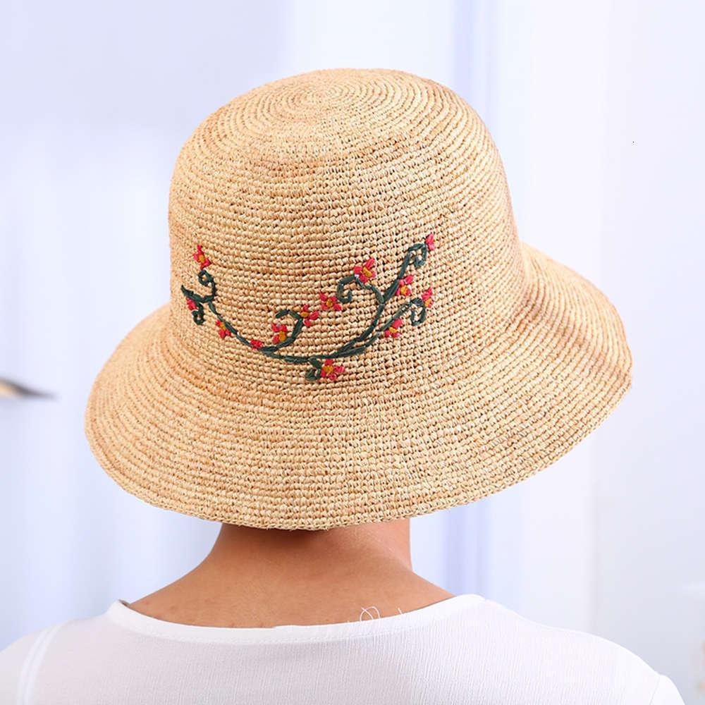 Tidal Seaside Outdoor Ed Ricamato LaFite Crochet Basin Lady Estate Sunshade Cappello da pescatore