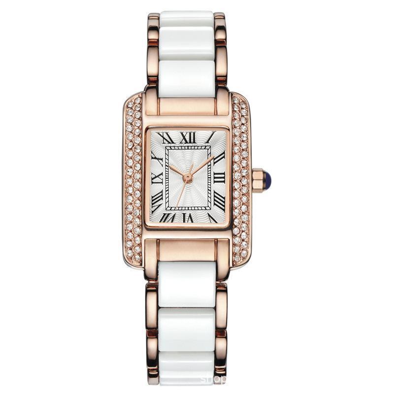 Neueste retro quadratische frauen leben wasserdichte mode trendy einfache melamin armbanduhr armbanduhren