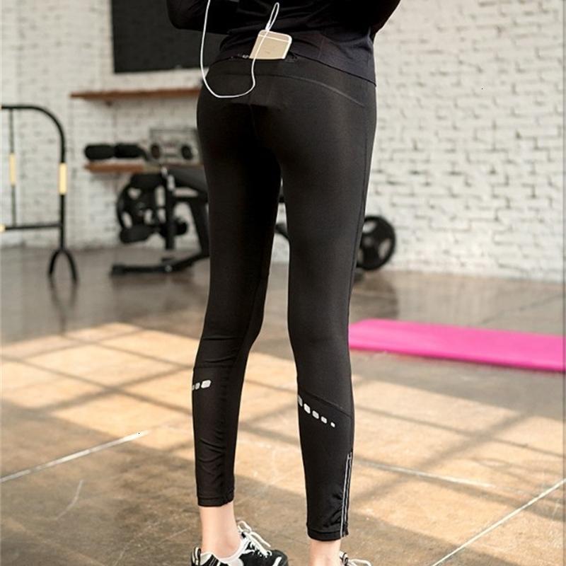 Leggings Gym da donna sportivi coreani Gym da donna veloce sera a secco rapido yoga riflettente piccola gamba capris autunno e inverno