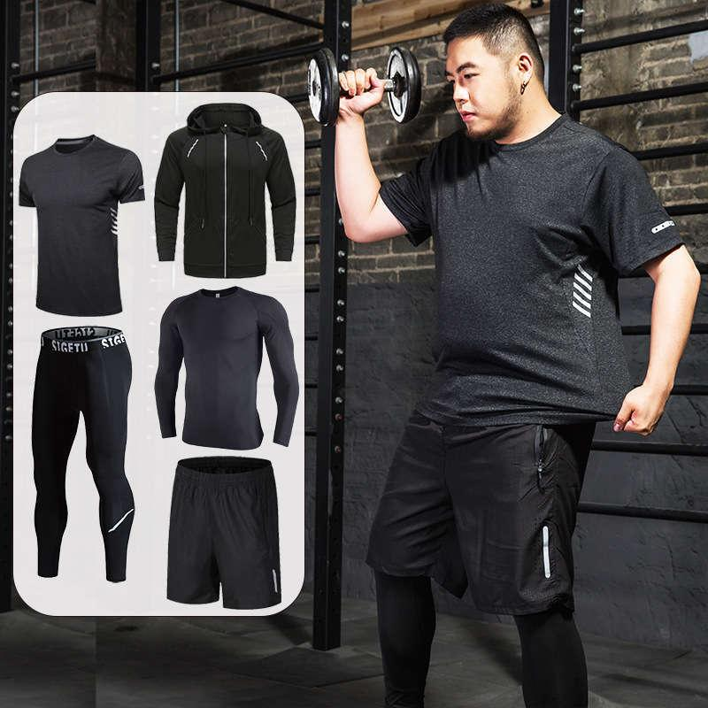 Tute da uomo allentato fitness a secco rapido vestiti da allenamento uomini guadagno peso esercizio misura misura grasso in esecuzione uomo da basket uomo