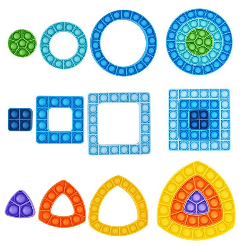 Fidget jouets sensoriels colorés colorés beignets papillon combinaisons push bulle poppers macaron arc-en-ciel bulles musique décompression surprise figet jouet gros xz xz
