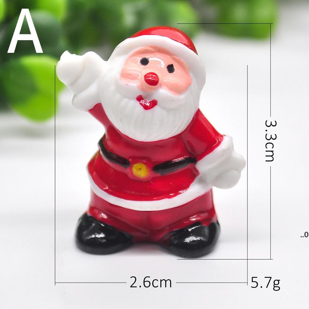 Party Supplies Weihnachtsdekorationen Mini Handgemalte Santa Baum Anhänger Kinder Neues Jahr Dekoration FWF9074