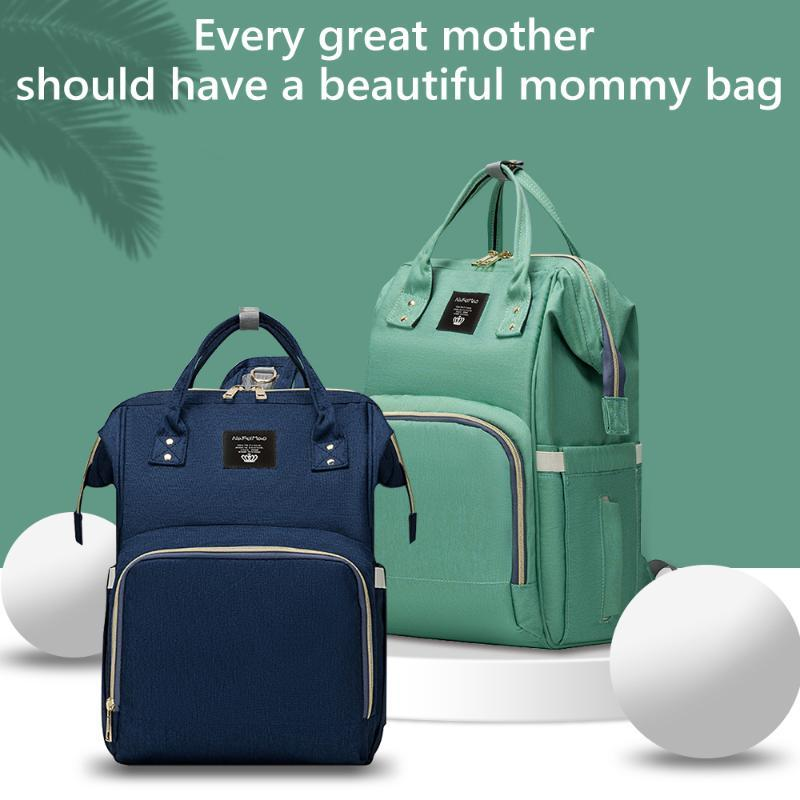 Mom Bag Diaper Backpack Waterproof Multifunction Fashion For Large Capacity Mommy Nappy Bags