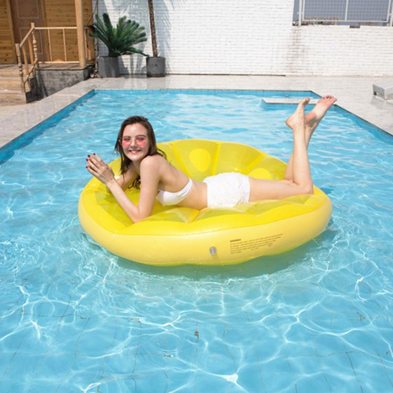 Inflatable Floats & Tubes Lemon Water Floating Hammock Row Round Mattress Sleeping Chair
