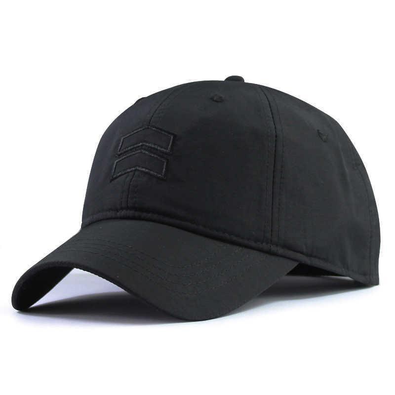 Großer Kopf Mann Große Größe Baseball Hüte Sommer im Freien dünne trockene Schnell Sonnenhut Männer plus Größe Sportkappe 55-60cm 60-65 cm 210623