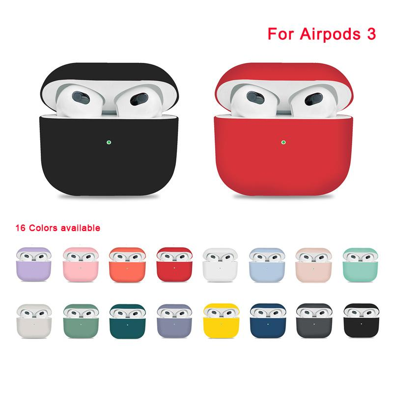 Silicone Protective Cases For Airpods Pro 3 Case Wireless Bluetooth Earphone Cover with Retail Package