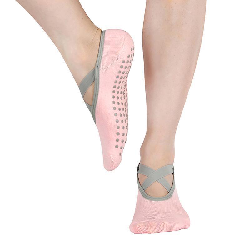Sports Socks Womens Yoga Low Cut Anti Slip Sticky Bottom Workout Pilates Grip Sock For Woman Dance Slippers Fitness Ballet Socken