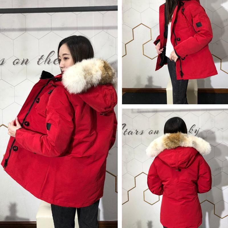 Kış Ceket Bayanlar Gerçek Kurt Kürk Yaka Ördek Aşağı Isı Ceket Douduone Femme Mont Slim Fit Dış Giyim Bul Kadın Parkas Rüzgar Geçirmez Ceketler 7 Stil Seçmek için