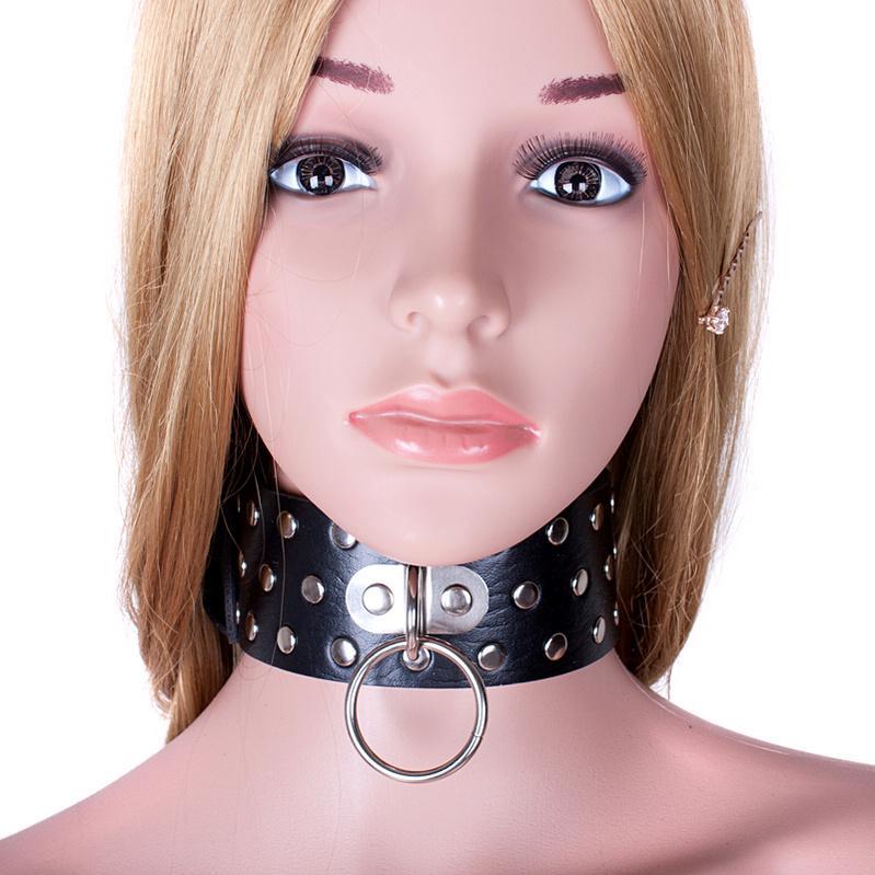 SM BDSM TOYS PU Cuero Cuello Cuello Collar Sex Slave Rol Play Collar para Mujeres Restricción Anillo de esclavitud Fetiche Productos Sexo
