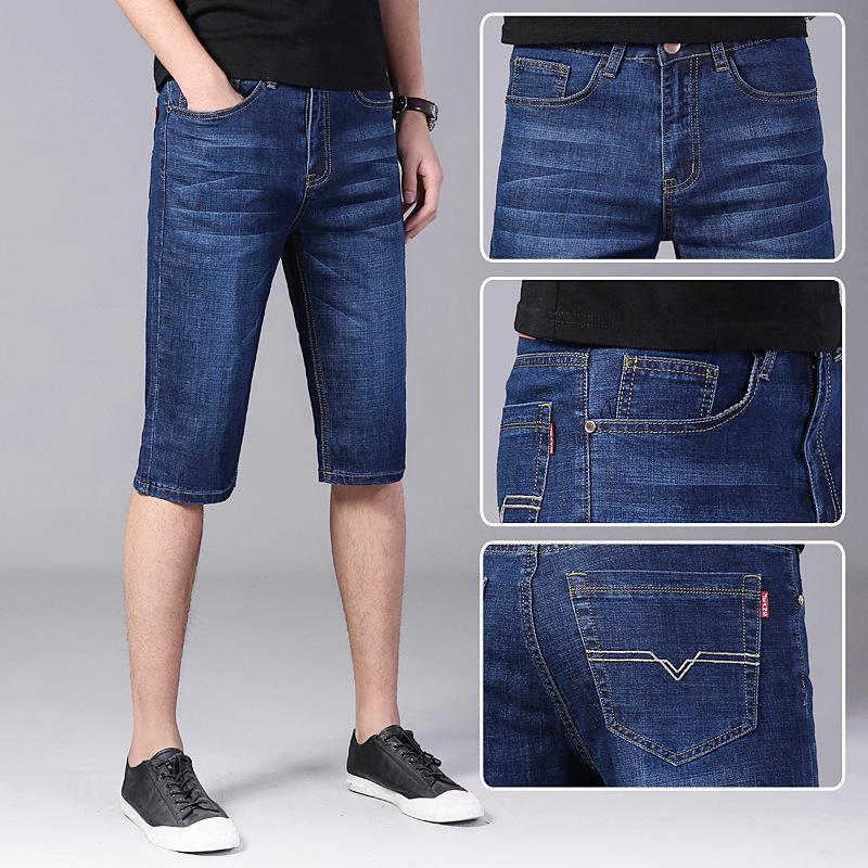 009 pantalones casuales sueltos pantalones vaqueros de 5 puntos pantalones cortos de verano verano 5-7 puntos
