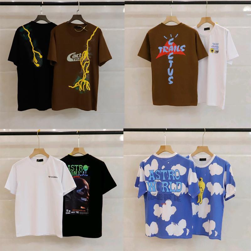 21ss 좋은 qaulity 여름 망 디자이너 티셔츠 티셔츠 패션 캐주얼 커플 반팔 티 트라 비스 스콧 선인장 잭 남자 티셔츠
