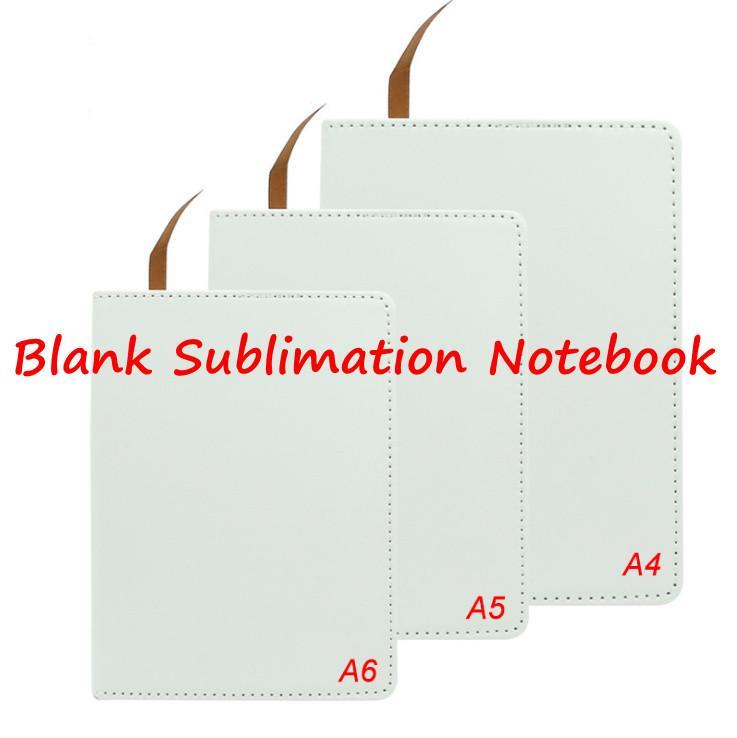 A5 A6 التسامي مجلة فارغة دفتر المفكرة فو الجلود يحتوي على جوهر مع الشريط على الوجهين شعار مخصص diy