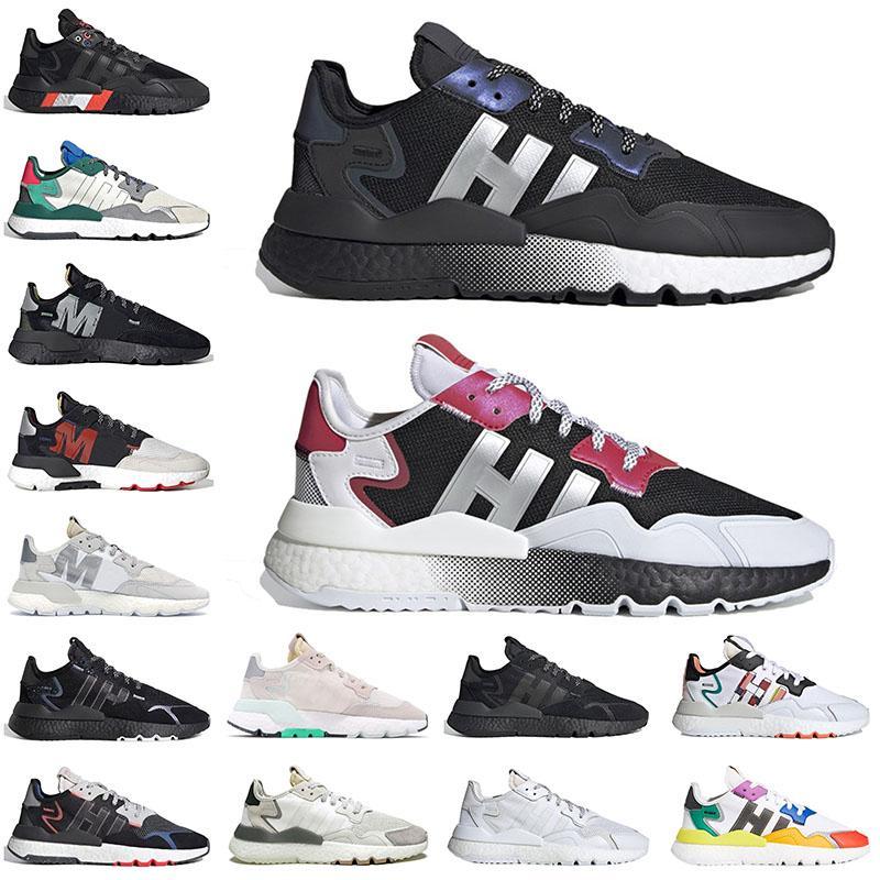 Schuhe adidas Boost Nite Jogger Original Laufschuhe für Männer, Frauen, Sportschuhe schwarz reflektierendes Xeno weiß silber Herren Damen Trainer im Freien Joggen zu Fuß