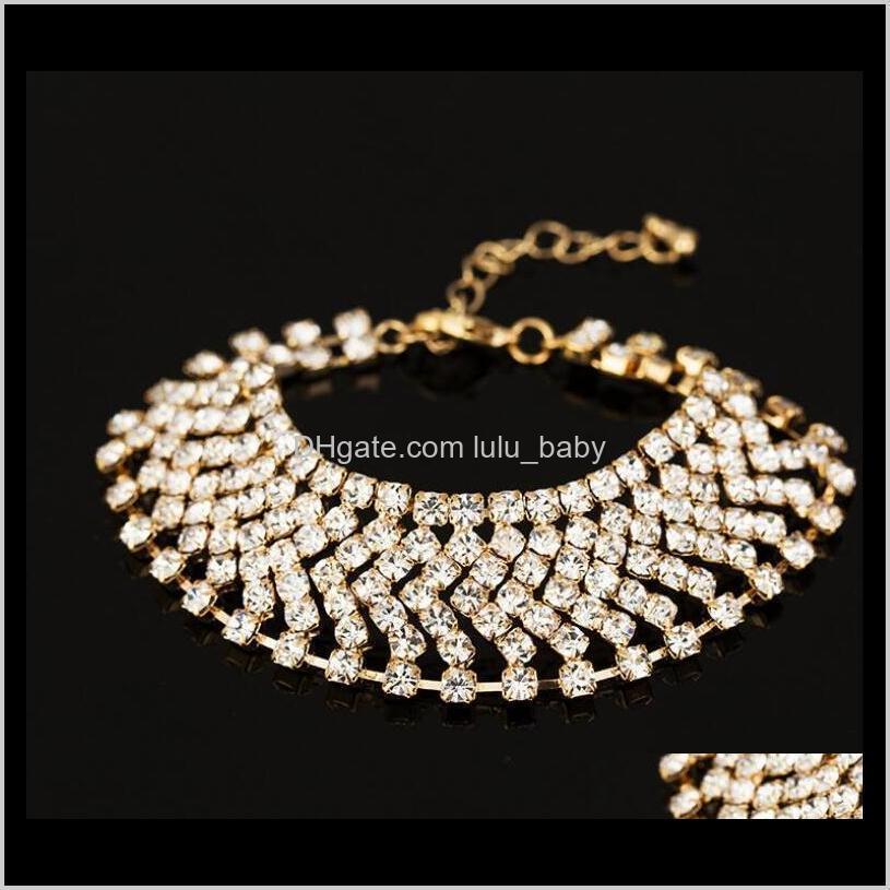 Consegna a goccia 2021 Donne di alta qualità Lady Donne Gioielli di modo Arrow Diamond Tennis Bracciali Placcato Placcato oro 18 carati PS2890 Kder4