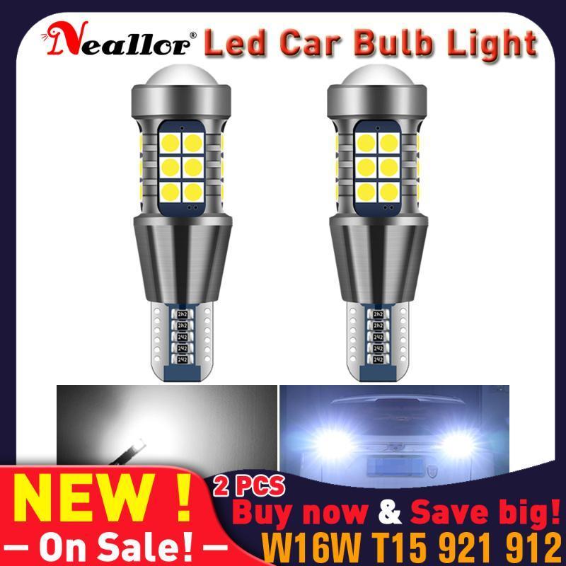 W16W LED CANBUS T15 921 912 1156 7440 T20 BA15S 7506 백업 백업 자동차 액세서리 용품 자동 비상용 다이오드 램프