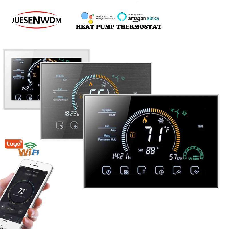 Smart Home Control Air-to-Air-Wärmetauscher-Zentralheizung WIFI-Thermostat für 24-V-Pumpe mit Alexa Google