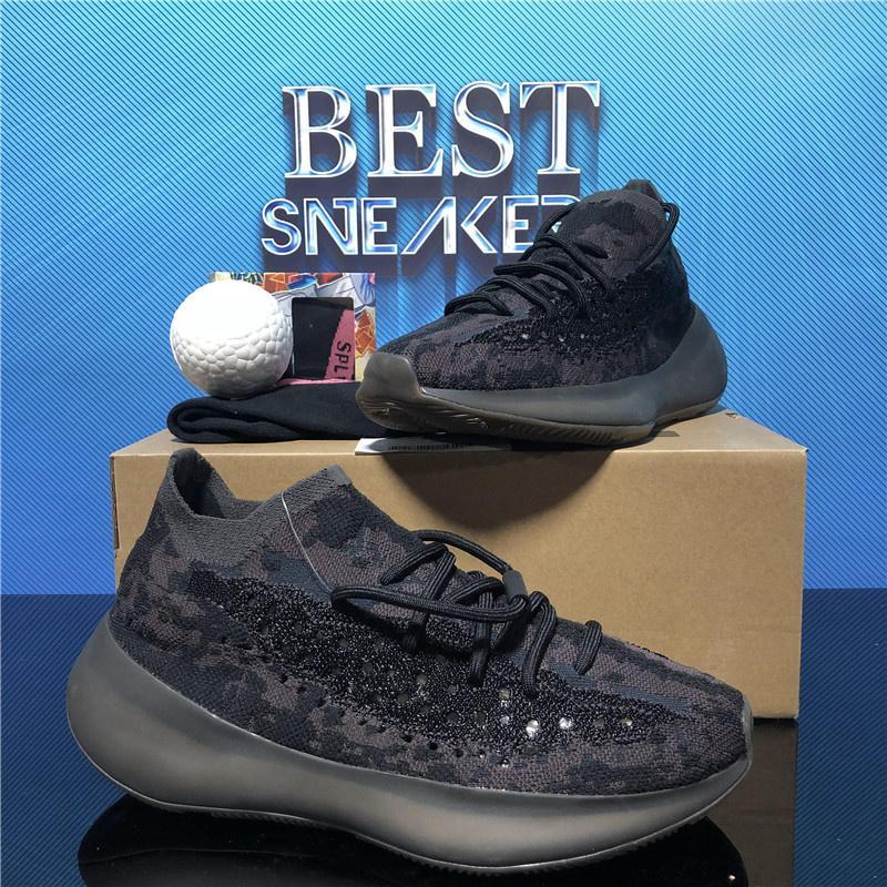 2021 Chaussures de course de qualité supérieure ouest 380 Alien Mist 3M Baskets réfléchissantes Clay Beluga Triple Noir Blanc Hommes Femmes avec boîte