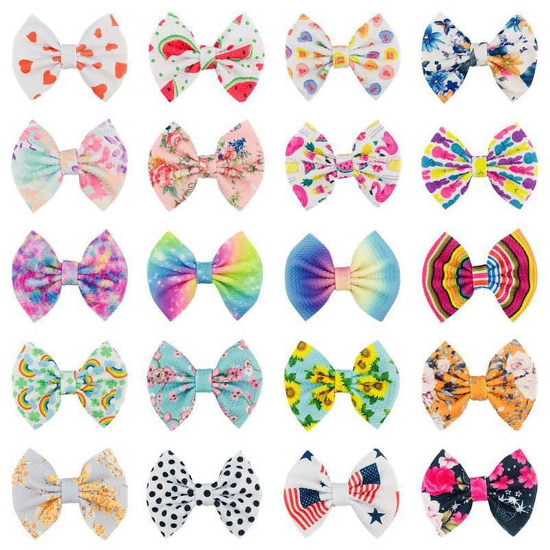 Baby Hair Accessories Pins Bb Clip Barrettes Clips Things Childrens 4.5Inch Bows Cute Bowknot Rainbow Flower Dots Cartoon B5415