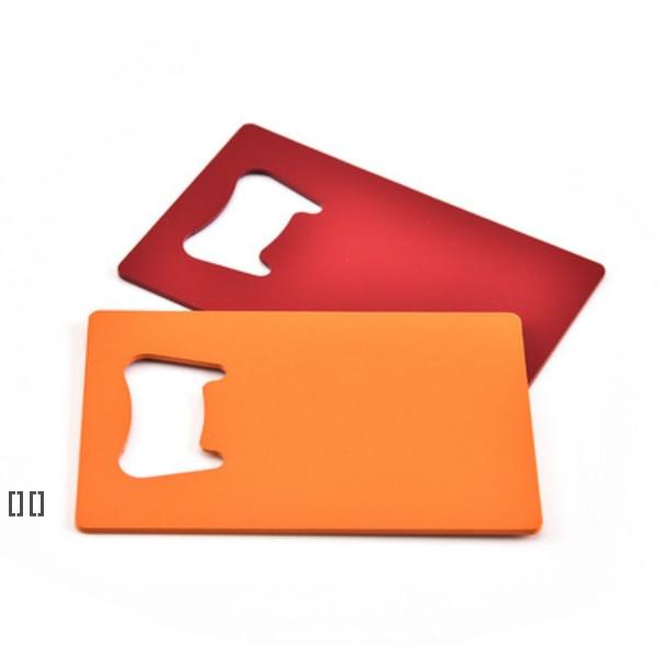 Wallet Size Stainless Steel Openers 4 Colors Credit Card Beer Bottle Opener HHB6658