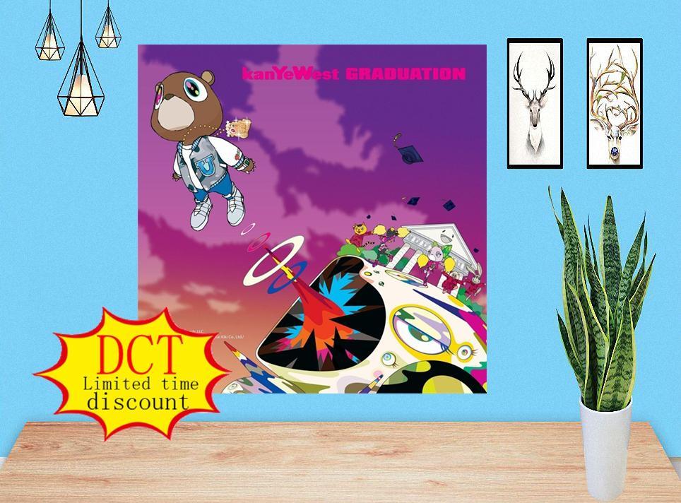 Kanye West Poster Graduation Studio Album Poster Cover Silk Art Print