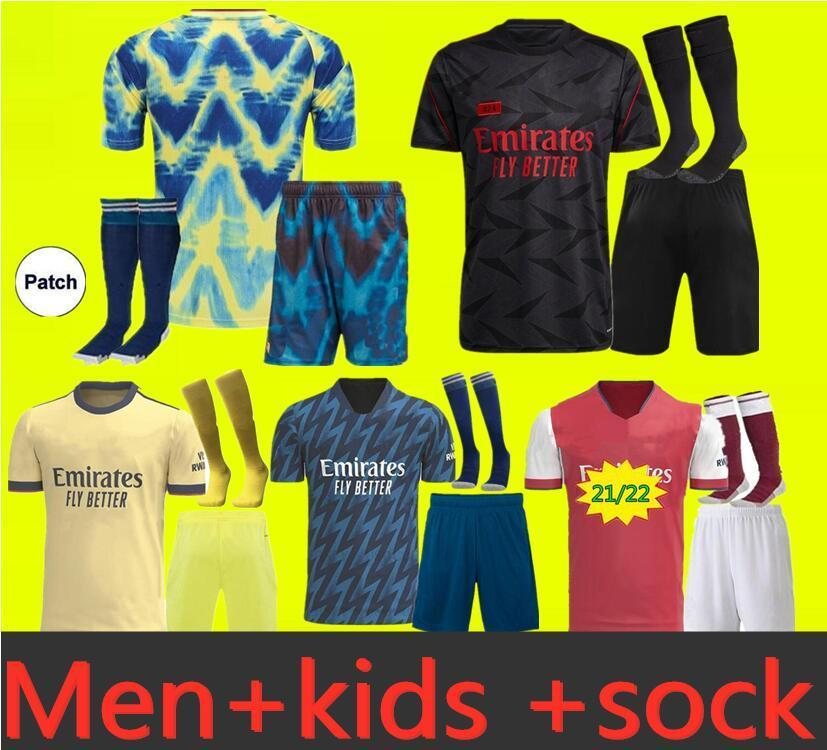 Arsen Soccer Jersey Gunners Lacazette 9 2021 22 Saka Thomas Willian Nicolas Tierney Collection قمصان كرة القدم الكبار والأطفال كيت الرابع هما