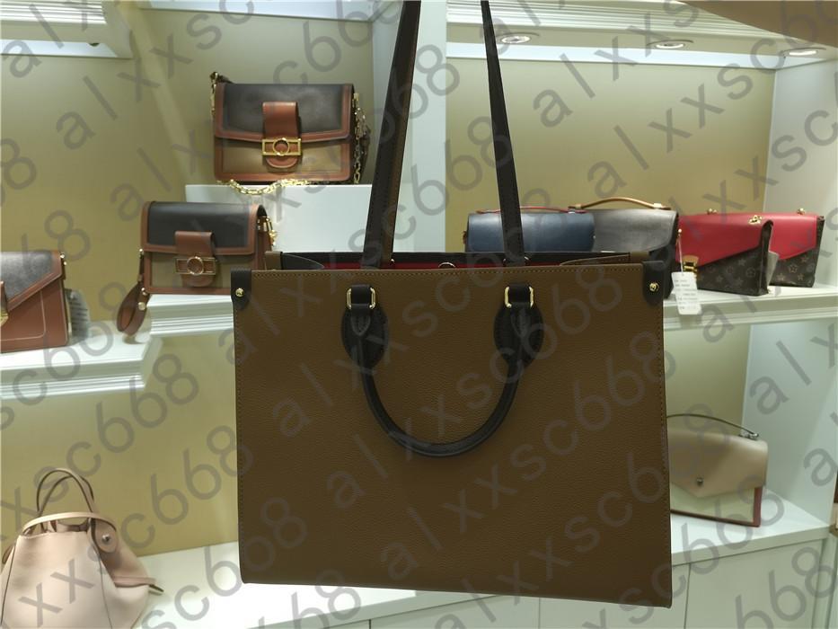 2021Luxury Designer 3A Moda Yüksek Kaliteli Kahverengi Alışveriş Çantası Sıcak Satış Klasik Marka Deri Büyük Kapasiteli Çanta 3219