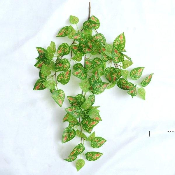 الحرير الأخضر الاصطناعي معلقة ورقة حديقة ديكورات 8 أنماط غارلاند النباتات كرمة القيقب العنب أوراق DIY FWE6002
