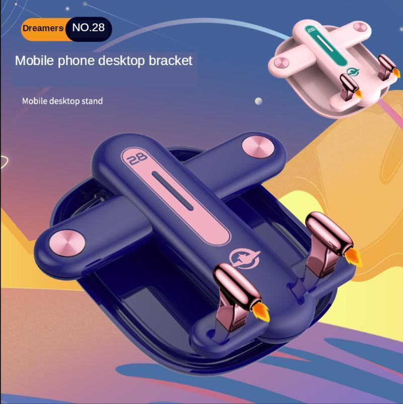 Armazenamento de dobramento de aeronaves criativos do suporte do telefone móvel Multi ângulo de armazenamento múltiplos suportes