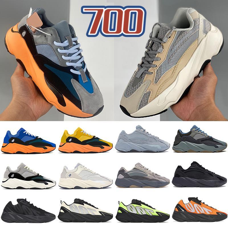Nuevo 700 V1 V2 MNVN zapatillas para correr para hombre sun Tie dye Carbon Blue yellow Triple Black reflectante hombres mujeres zapatillas