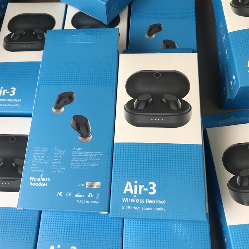 Air 3 Buds Tws Mini Bluetooth 5.0 في الأذن سماعات الرأس اللاسلكية سماعة مع مايكروفون ستيريو سماعة A6S مي براعم لالروبوت كل الهاتف الذكي