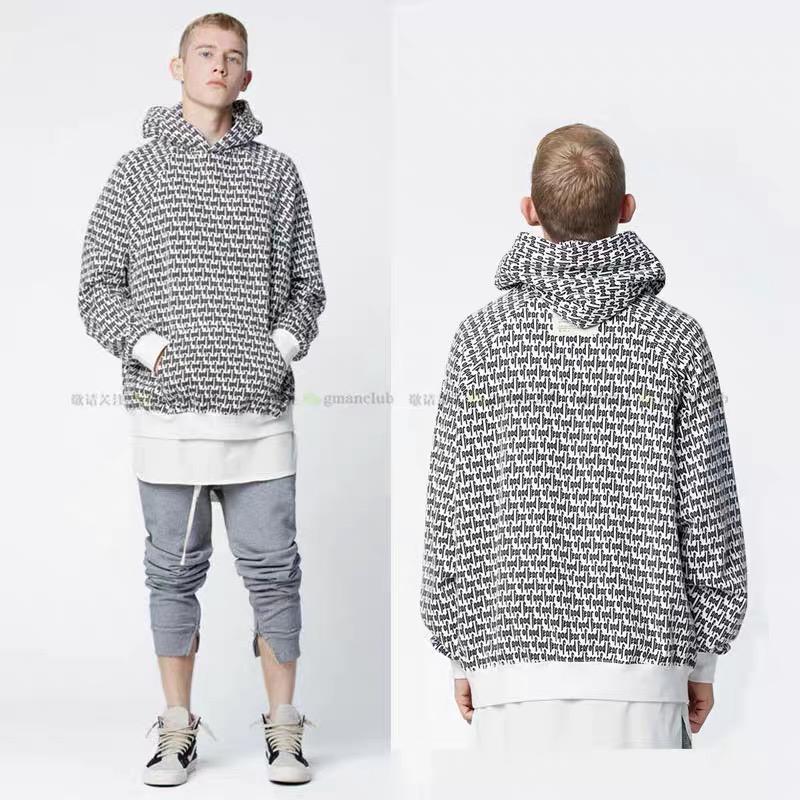 Sonbahar kış tanrı korkusu erkek hoodies yüksek sokak ana hat trendi tam sis baskı barajı hoodie yüksek sokak esansiyel tişörtü marka boy kazak ceket