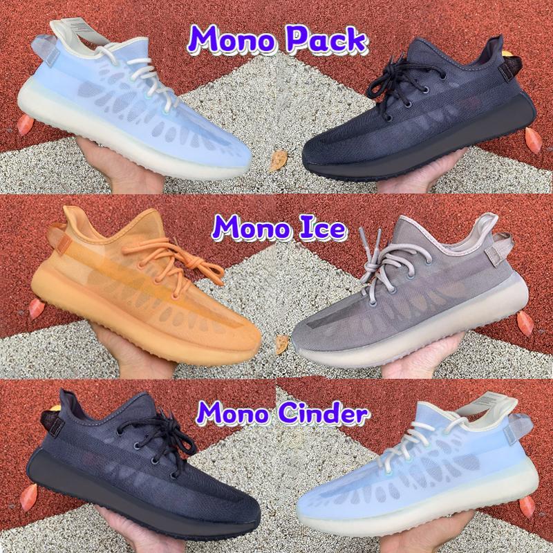 2021 أحادية حزمة v2 رجل احذية الجري الجليد الطين سنندر ضباب الأبيض موضة منخفضة الرجال أحذية رياضية النساء المدربين لنا 5-12.5