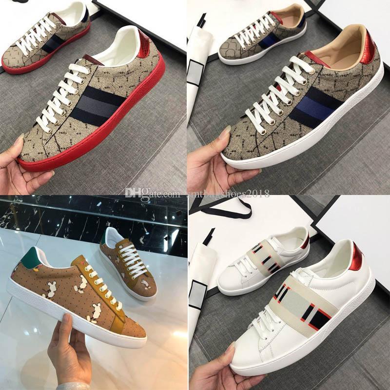 Designer classici di modo reale in pelle casual casual scarpa bianca uomo di alta qualità mens sneakers mocassini lace up lussurys scarpe da donna con scatola taglia 35-46