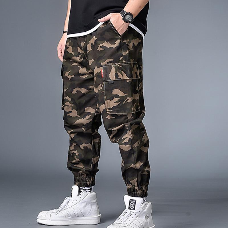 남자 플러스 사이즈 XL-7XL 위장 도구 바지 비료 큰 패션 중반 남자 남자를위한 큰 패션 고품질 캐주얼 바지