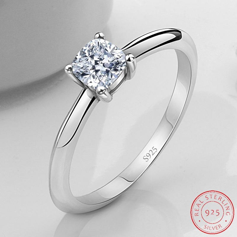 Solid Real 925 Sterling Silver wedding engagement promise Rings For Women fashion finger jewelry XR518