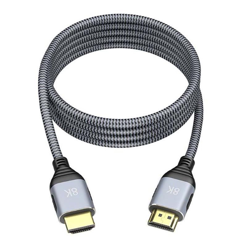 TV 디스플레이가있는 컴퓨터 노트북을위한 컴파되는 8K @ 60Hz 고화질 E- 스포츠 오디오 및 비디오 케이블 케이블 커넥터