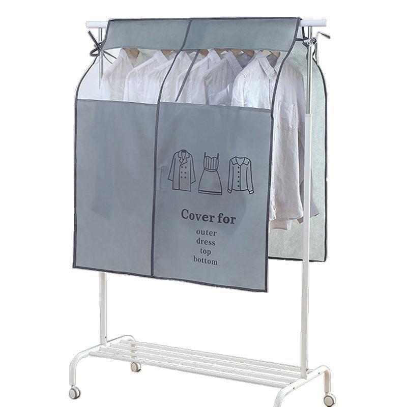 الملابس خزانة الملابس تخزين حقيبة غطاء غير المنسوجة النسيج الغبار القماش دعوى السفر المحمولة أرضية شماعات الغبار