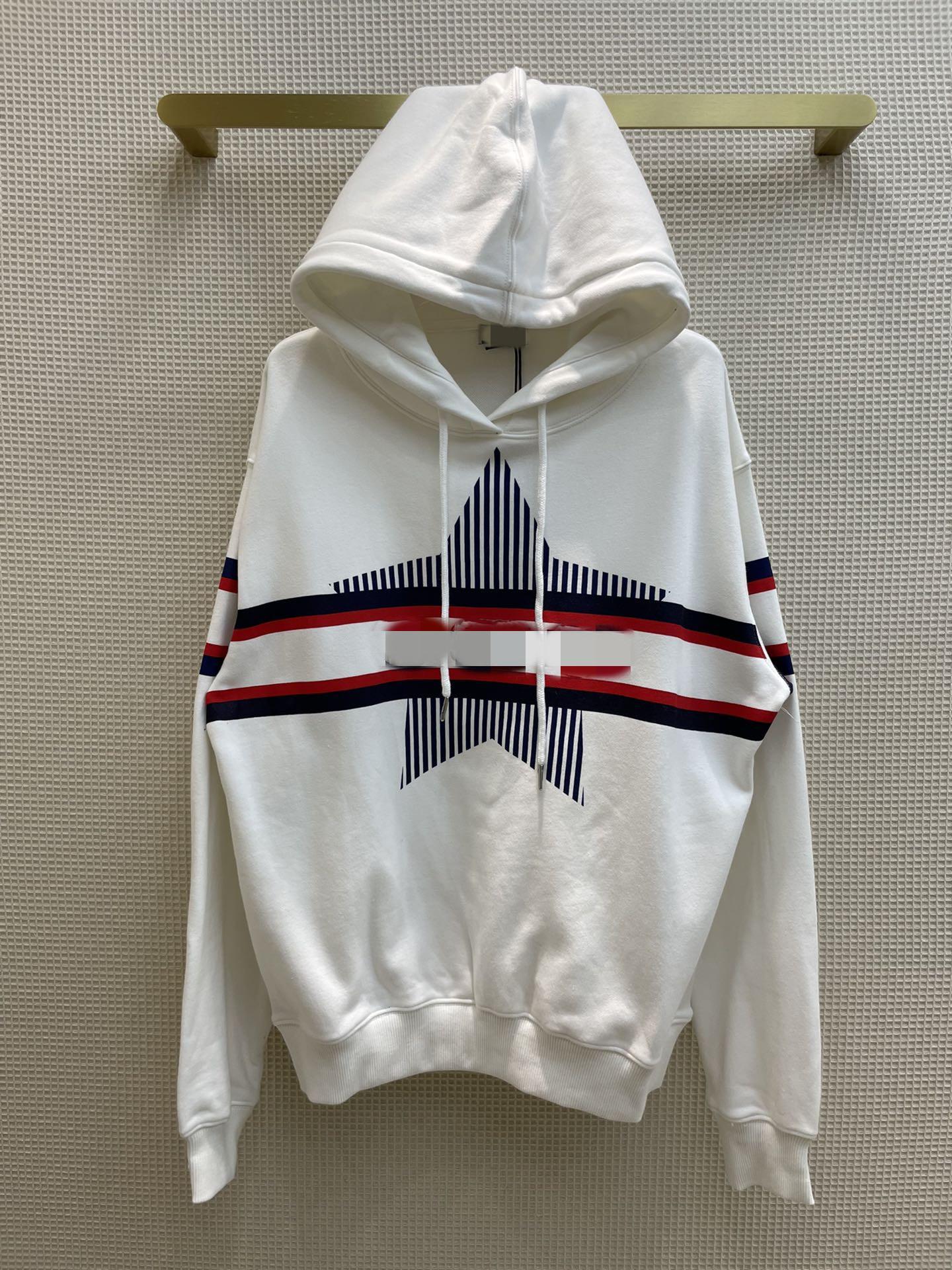 Kadın Hoodies 2021 Sonbahar Kapüşonlu Uzun Kollu Baskı Panelli Tasarımcı Ceket Ve Marka Aynı Stil Tişörtü 0918-8