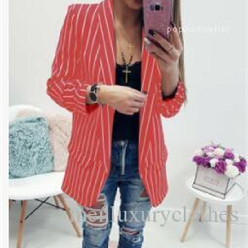 Women's & Striped Suits Singler Breasted Blazers OL Female Coats Designer Tops Women