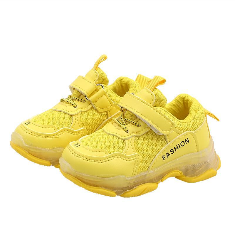 Sneakers Fashion Autumn Children Casual Shoes Flat Boys Girls Toddler Breathable Soft Kids Solid Color Sports Unisex
